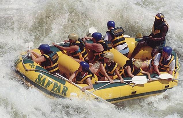 raften op Zambezi