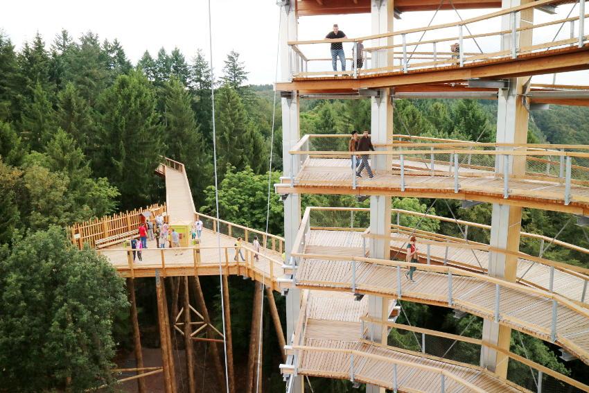 Saarschleife Aussichtspunkt Cloef Baumwipfelpfad - AllinMam.com