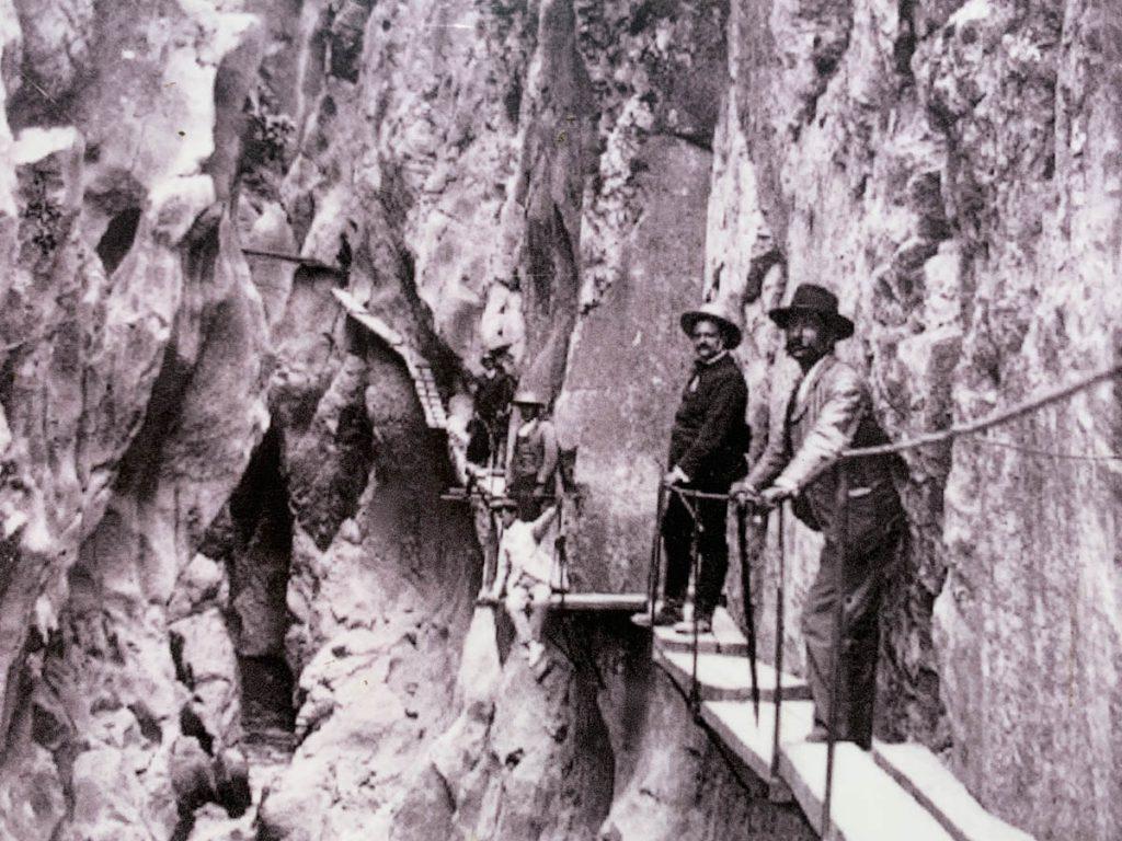 Balconcillos de los Gaitanes Caminito del Rey begin 20e eeuw Andalusië Reislegende
