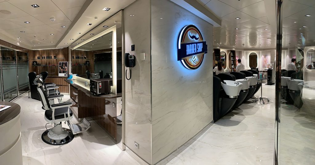 Barber shop MSC Grandiosa - Reislegende.nl