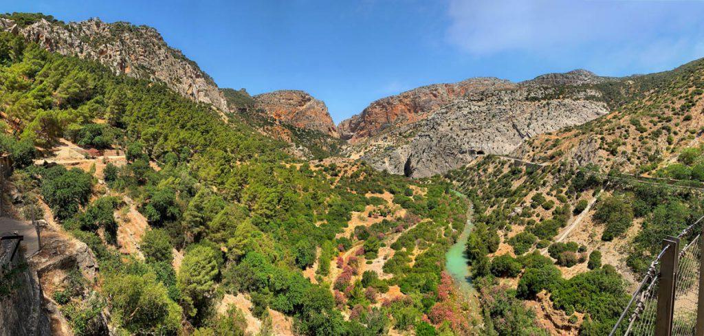 Caminito del Rey wandelpad Valle del Hoyo panorama Andalusië - Reislegende.nl
