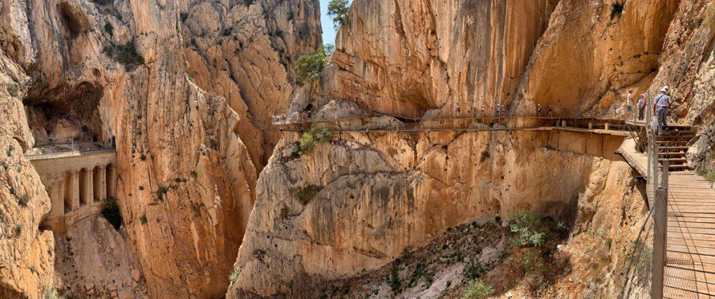 Caminito del Rey wandelpad tweede gedeelte van het wandelpad Andalusië - Reislegende.nl