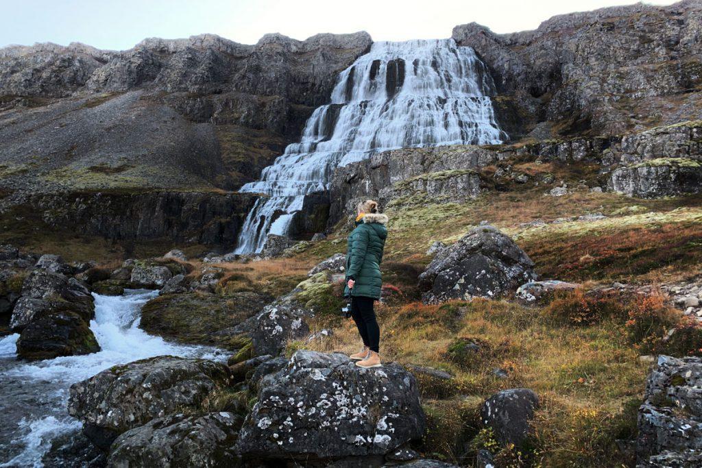 Dynjandi watervallen westfjorden IJsland met de auto Reislegende - Reislegende.nl