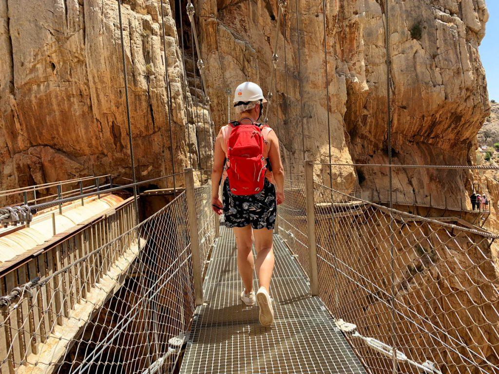 Hangbrug Caminito del Rey wandelpad Andalusië - Reislegende.nl