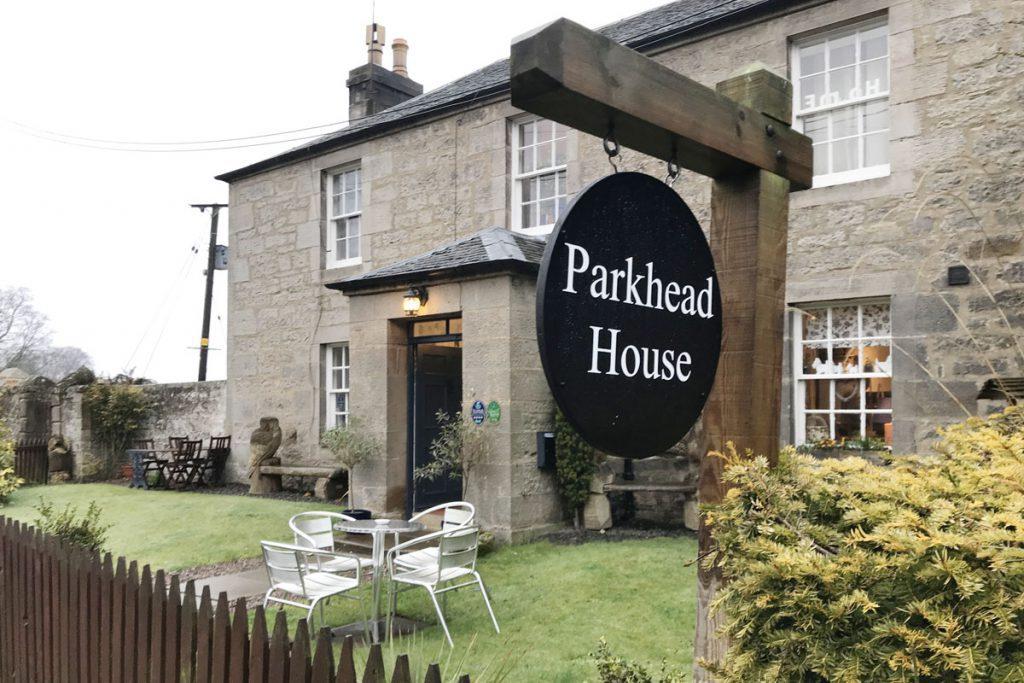 Parkhead House bed & breakfast. Slapen vlakbij Lallybroch