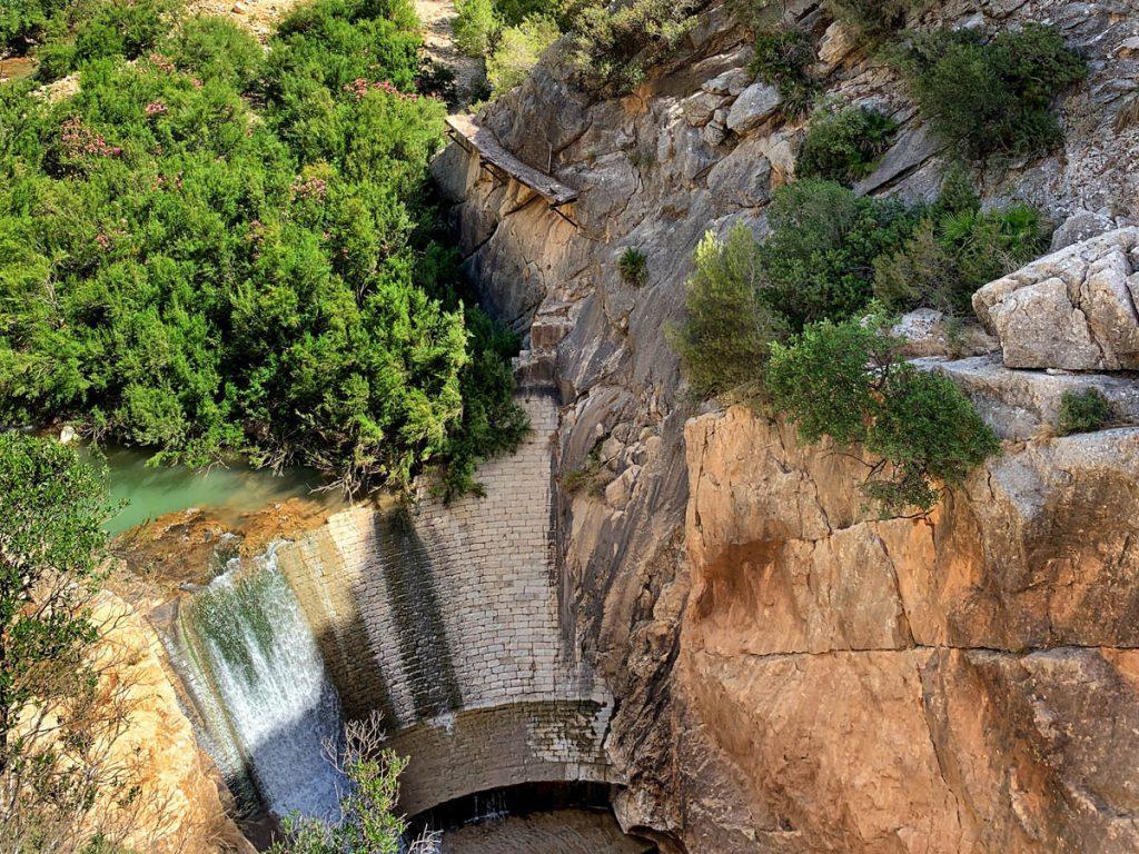 Water reservoir Caminito del Rey Andalusië - Reislegende.nl
