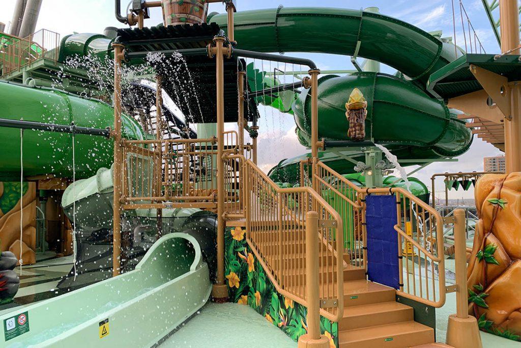 Waterpark voor kinderen op bovendek MSC Grandiosa Reislegende