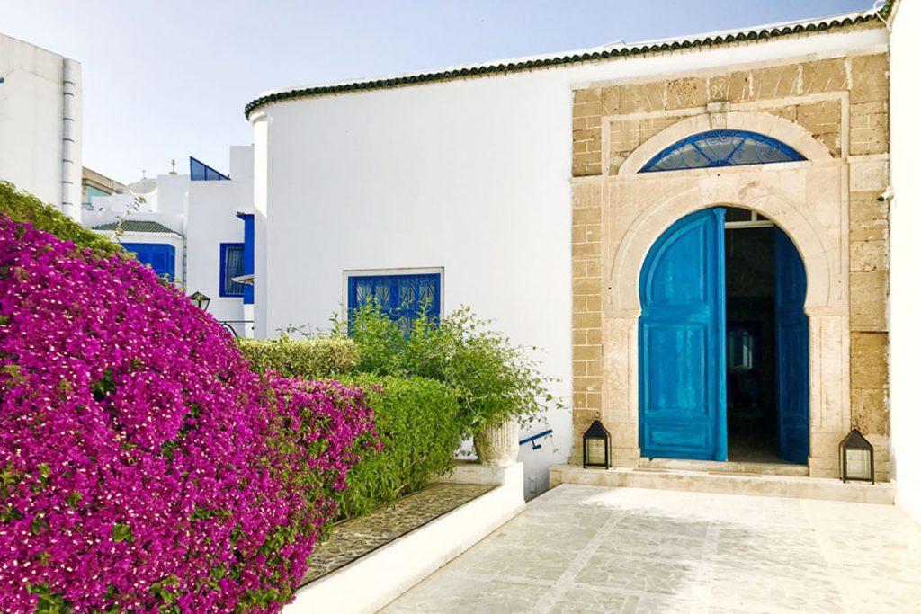 4x top accommodatie in Tunesië, Sidi Bou Said Hotel Dar Said boutique hotel vertrek