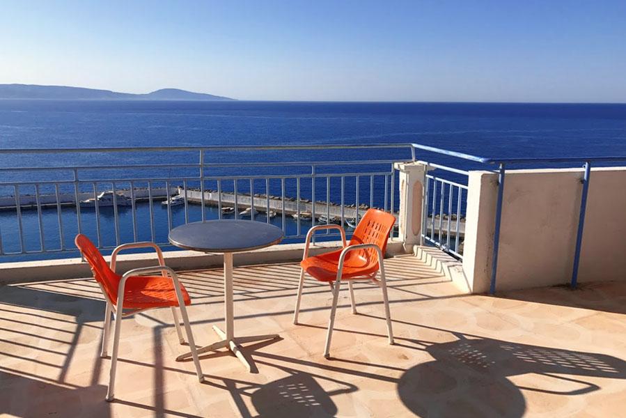 Hotel Pallada uitzicht vanaf dakterras - AllinMam.com