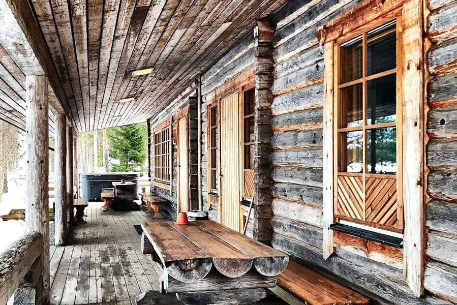The Northern Lights resort sauna, Finland - AllinMam.com