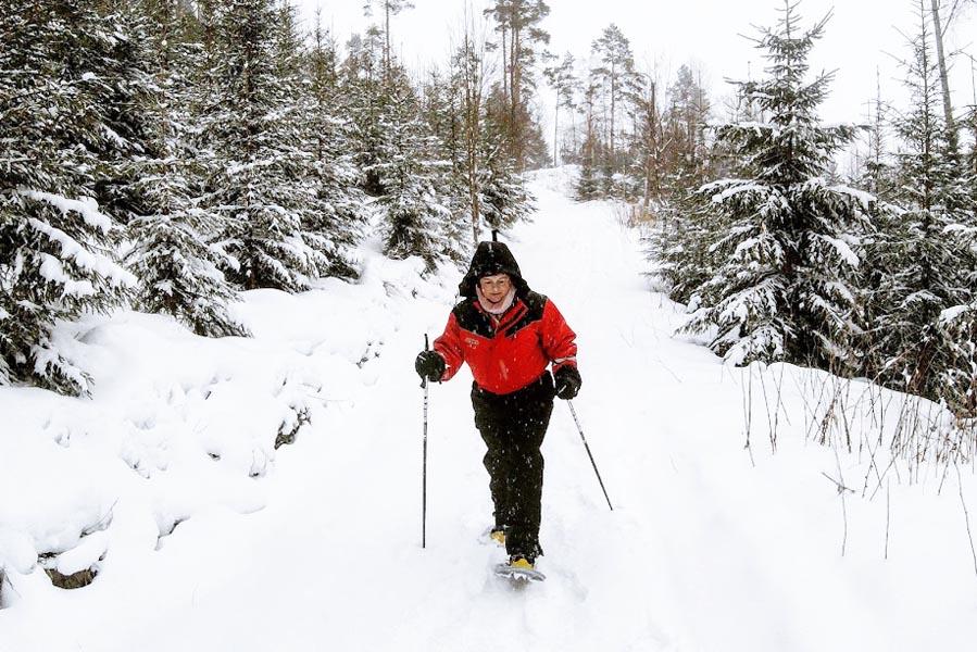 Wandelen op sneeuwschoenen in Finland - AllinMam.com