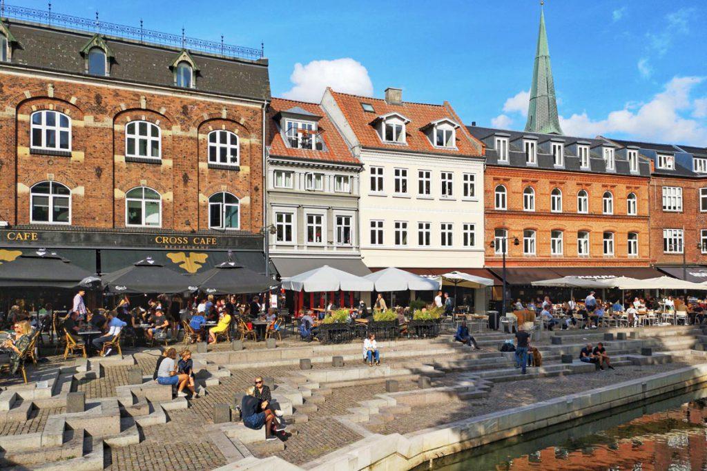 Aarhus terrassen en restaurants in Denemarken