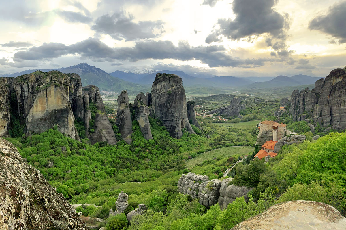 Meteora kloosters in Griekenland