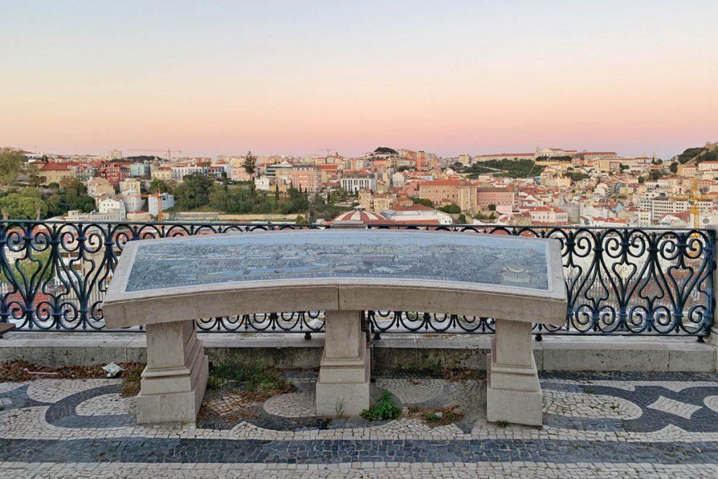 Lissabon Miradouro de São Pedro de Alcântara