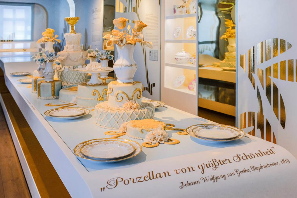 Kasteel Leuchtenbrug tentoonstelling porselein werelden bezienswaardigheden in Thüringen - Reislegende.nl