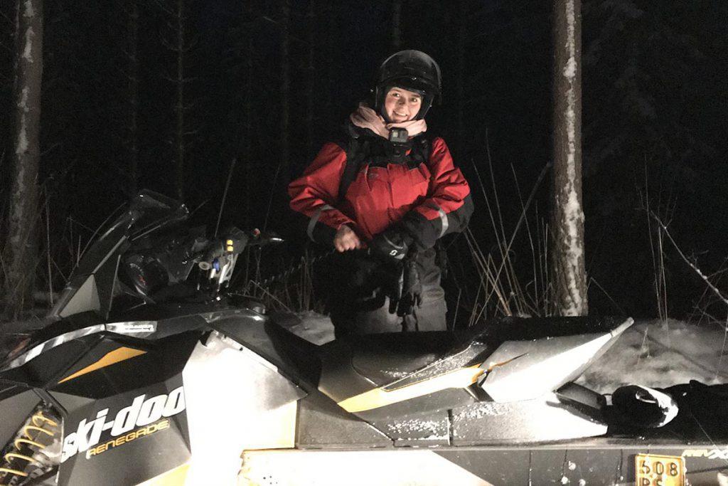Snowmobiling in Finland Varjola - Reislegende.nl