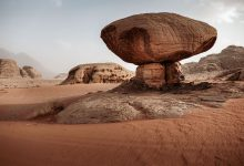 Mushroom Rock - Wadi Rum tips en bezienswaardigheden - Reislegende.nl