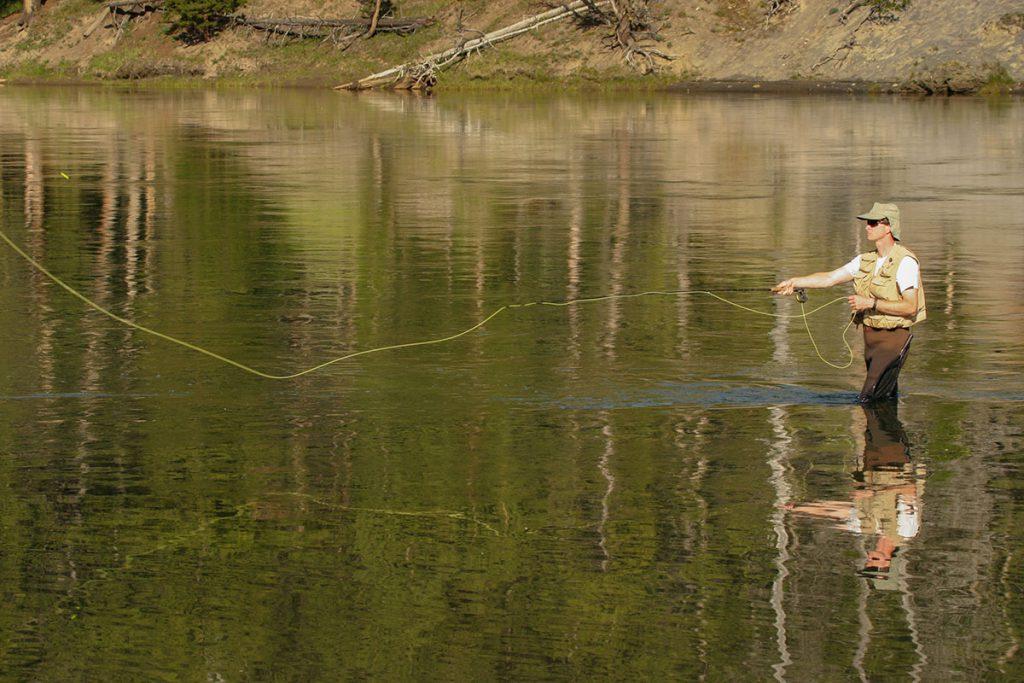 Vliegvissen in Yellowstone - Yellowstone National Park: 10x wat je niet mag missen - Reislegende.nl