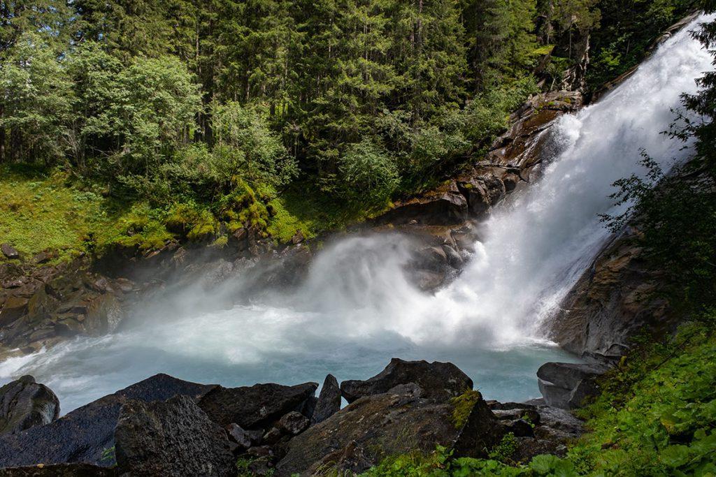 Middle Ache Fall - Krimml watervallen, grootste waterval van Oostenrijk - Reislegende.nl