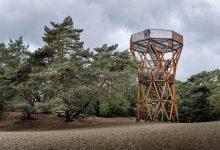 Photo of Kootwijkerzand uitkijktoren, zicht op grootste stuifzandgebied van West-Europa