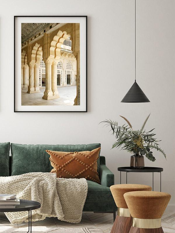 India poster Amber fort in Rajasthan - Reislegende.nl
