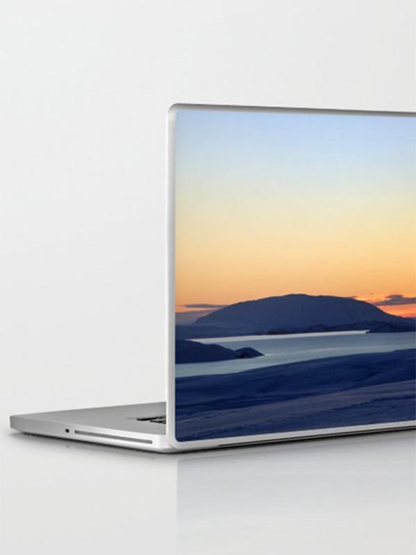 IJsland laptop skin, zonsopkomst - Reislegende.nl