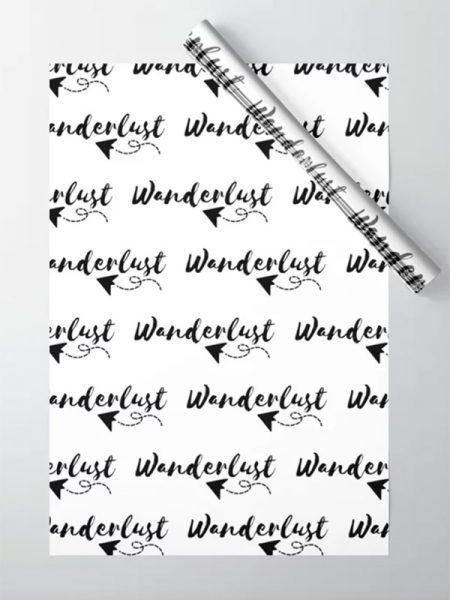 Wanderlust inpakpapier - Reislegende.nl