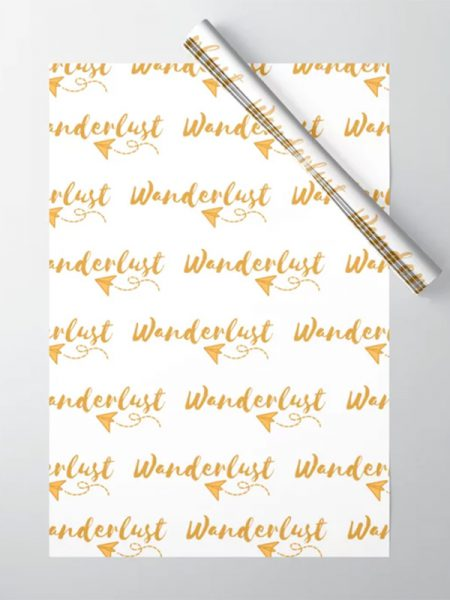 Wanderlust cadeaupapier - Reislegende.nl