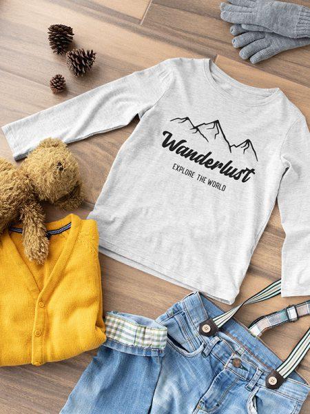 Wanderlust t-shirt voor kinderen - Reislegende.nl