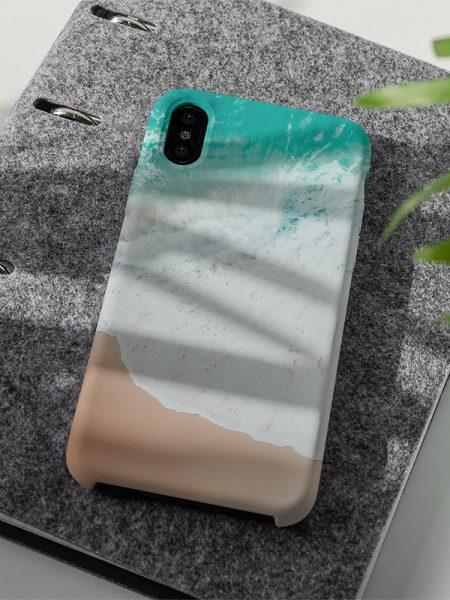 iPhone hoesje blauwe zee - Reislegende.nl